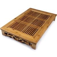 Bamboo Medium teaberries kung fu tea tray bamboo tea tray drawer quality Medium bamboo tea tray mesh bamboo tea tray