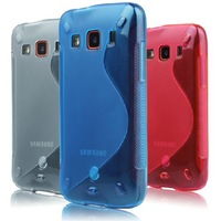 Wholesale Soft TPU Gel S line Skin Clear Back Cover Case For Samsung Galaxy Xcover S5690 10pcs/Lot Free Shipping