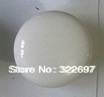 free shipping KL19203 fashion white ceramic cabinet furniture single hole handle and knob