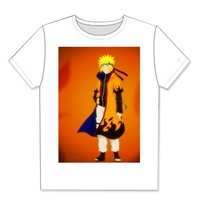 Naruto Anime Customized Cotton Fashion T-shirt , DIY Short Sleeve T-shirt Your Photo Please TT093