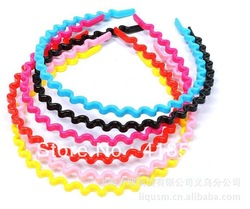 Free shipping cheap 100pcs/lot wholesale fashion convenient 2013 candy color wave band Hair band(China (Mainland))