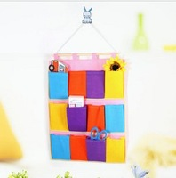 Min order $5 (MIX) Practical Non-woven Multi- pocket Storage Bag , Wall Hang Storage Bag HG-20