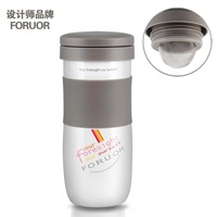 2013 New Foruor stainless steel cup vacuum belt filter tea cup tea interval thermal cup Free shipping!