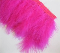 1 yards Marabou Feather fringe of plum color 6-7 inches free shipping