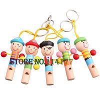 MINI wooden pirate whistle wood toys Children's toys