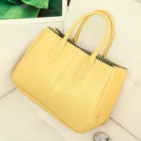 Color block 2014 women's handbag fashion vintage bags brief fashion all-match women's handbag