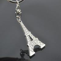 Eiffel tower style keychain key ring logo