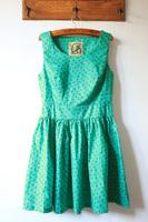 Fabric five-pointed star doodle side zipper big skirt slim waist tank dress one-piece dress