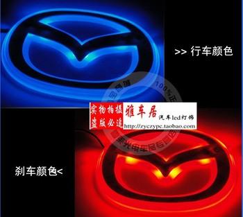 MAZDA 3 m3 m5 two-color led lamp label emblem backlight car beacon two-color emblem