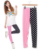 2013 personality stripe split joint ankle length legging vertical stripe galaxy capris