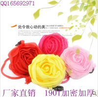100pcs/pack Strawberry rose eco-friendly bag shopping bag logo