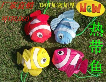 100pcs/pack Tropical fish shopping bag eco-friendly bag folding storage bag fish logo folding