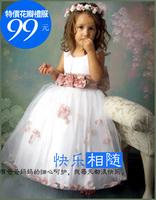 2014  Free shipping child formal dress princess flower girl dress formal dress small party dress