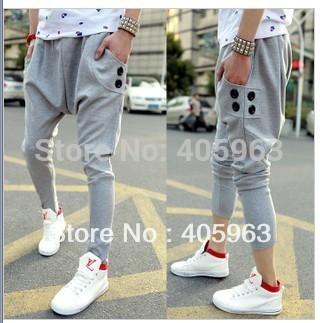 Free shipping mens harem pants baggy sports gum jogging pants sweatpants dropship