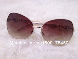 The latest white big box fashion sunglasses in 2013!(China (Mainland))