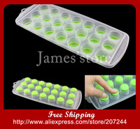 brand new Ice Freeze Cube plastic Tray Maker Mold Tool 21 holes silicone bottom easy for taking ice