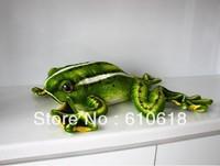 Free Shipping 1 Pcs 30cm High Simulation Green Flying Frog Plush Toys Creative Children Birthday Gift Car Home Decor