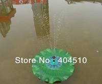 New listing: 1.4W solar floats simulation lotus leaf water pump fountain fish ponds pond landscape oxygen pump