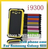 Wholesale Mobile phone case for Samsung Galaxy SIII i9300 Cell phone case with Shockproof  Multi-color optional Free shipping