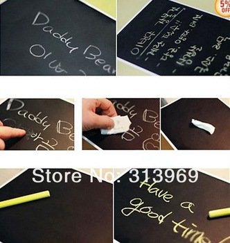 45*200CM Chalkboard Chalk Board Blackboard Removable Vinyl Wall Sticker Decal  chalkboard memo sticker 150pcs/lot