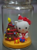 free shipping Christmas kitty handmade diy clay finished product gift customize birthday present