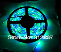 Freeshipping Waterproof 5M DC12V 300 led SMD 3528 RGB led flexible strip light +24 Key IR Remote control,Retail/Wholesale