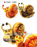 Free Shipping 1 Pcs 38cm Simulation Snail Plush Toys Doll Cushion Pillow Creative Children Birthday Gift Car Home Decor