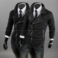 Assassin's Creed oblique zipper sweater jacket men's clothing