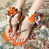 Free shipping 2014 Colorful new flats for Summer women Sandals Sweet fashion Leisure women shoes ladies Flip Flops size 40 9