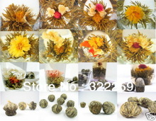 GREENFIELD 20pcs Different kinds Chinese Blooming Flower Tea 100 Handmade Artistic Artisan Blossom Flower Tea