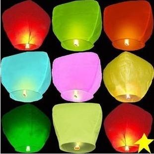 10 wishing lamp heart lanterns belt blue