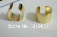 Free shipping (50pcs/lot)wholesale 10*6mm fashion 24k gold plated ear cuffs without hole 12