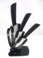 High quality Ceramic knife set Gift package 3&quot; + 4&quot; + 5&quot; + Peeler + holder  FDA CE Qualify 1SET/LOT Low price NEW
