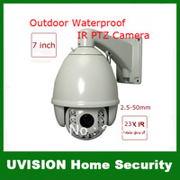 CCTV 650TVL 23X Optical Zoom 220 presets IR Day&amp;amp;Night Weatherproof PTZ Dome Camera Support Pelco-D, Pelco-P, HS