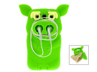 Silicone Cute Pirate Pig Case Cover Skin for Samsung Galaxy S3 i9300  (Green)