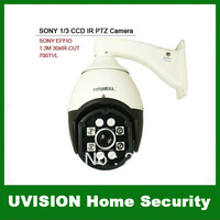 1/3 SONY EFFIO-E CCD 1.3Megapixls 30x Zoom IR-CUT 700TVL 100-120M IR PTZ Camera Horizontal 60 degrees/s, vertical 45 degrees/s