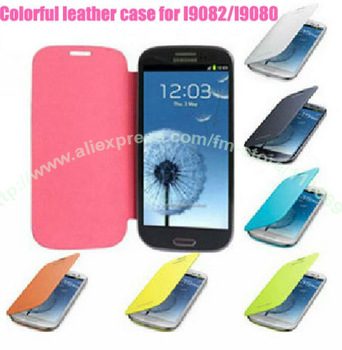 10X/lot.New Arrval! Back cover flip leather case for Samsung I9082 i9080 Galaxy Grand DUOS ,free screen protector+free shipping