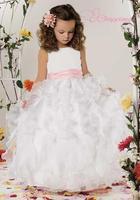 Luxurious Ball Gown Jewel Floor Length Organza/Satin Flower Girl Dress Style