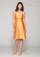 New 2014 empire party dress a-line girls dresses sleeveless gold dress