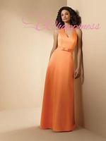 Floor length evening dresses A line  taffeta formal evening gowns