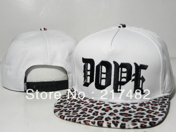 DOPE Snapback Caps white leopard without MOQ Freeshipping men's most popular basketball hats hot selling !