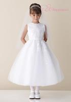 New Arrivals Ball Gown SatinFlower Girl Dresses Tulle Girls' Dresses