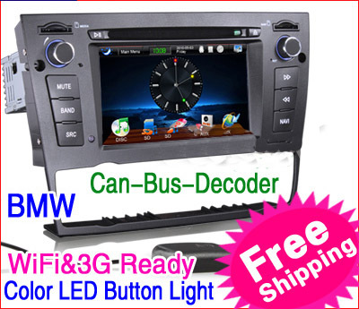 "KS1090 6.2"" HD Car DVD Player GPS IPOD TV WiFi 3G RMVB for BMW E90 E91 E92 E93 Color-Illumination PiP Can-Bus SWC E-Book Game 3D(China (Mainland))"