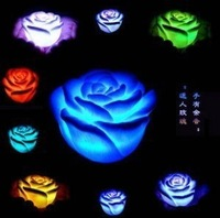 Free shipping originality light rose flower lamp romantic and new designed  Colorful roses small night lights (large)