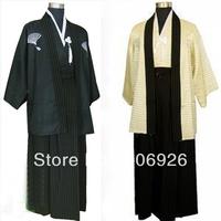 Japanese male kimono  Yukata Costume Black / Cream color
