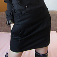 Ctrlstyle women clothing Fashion 2013 OL involucres outfit tailored slim skirt bust skirt short skirt woolen skirt