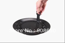 New arrival,smokeless indoor barbecue grill,steel thicken barbecue pans,BBQ roasting grill plate,Indoor cooking(China (Mainland))