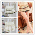 Korean sweet style lace shorts,cascading lace ruffles short pant,vintage  free shippingd989913