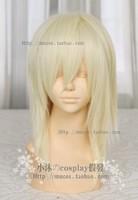 Cosplay New Medium Light Blonde Straight Heat Wigs