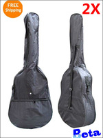 2pcs black normal style 40 inches Waterproof big Carrying Shoulder Straps Electric Acoustic Bass Guitar Bag Case free shipping